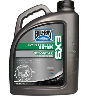 Garrafa 4 litros aceite de motor 100% Sintético Bel-Ray EXS 15W50