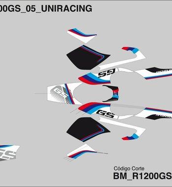 Kit Adhesivos vinilo Uniracing para BMW R 1200 GS / Adventure