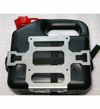 Bidón 3L gasolina + soporte para maletas Holan